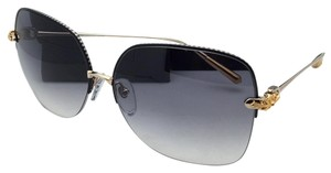 Chrome Hearts CHROME HEARTS Sunglasses SHAVED SBK/GP Black & Gold w/ Grey Fade