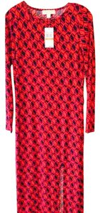 Red & Black Patterned Maxi Dress by Michael Kors