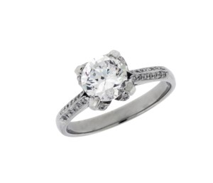 Tacori Tacori 2536 Diamond Engagement Ring Platinum Fits 1ct Round Size 6.5