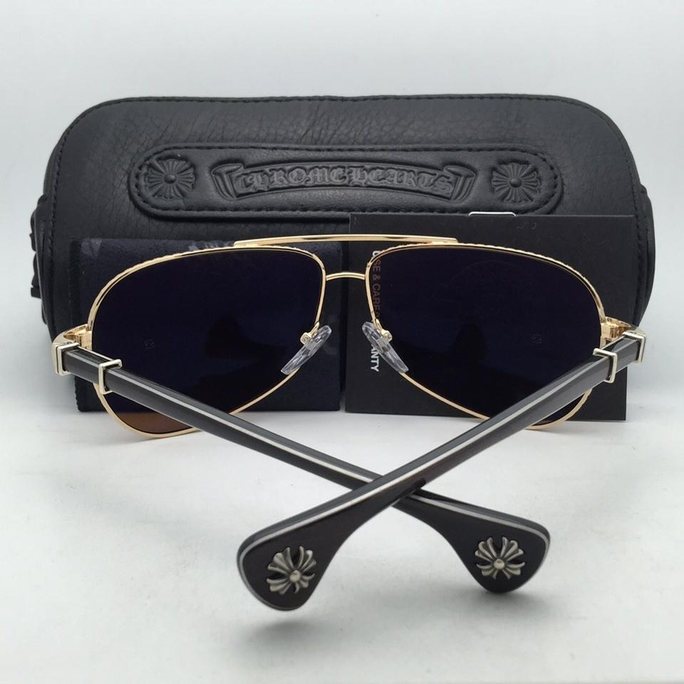 a0a6120bc899 Chrome Hearts Grand Beast Gp-ebpv Gold   Ebony Piano Varnish W Brown Gold-ebony  Sunglasses - Tradesy