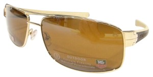 TAG Heuer Tag Heuer 0255 Sunglasses TH0255 LRS 705 Black Gold Ivory Brown Authentic New