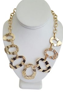 Other Gold Oval Seven Link Necklace