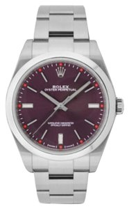 Rolex Rolex Oyster Perpetual Steel Red Grape Dial 39mm 114300 RGSO