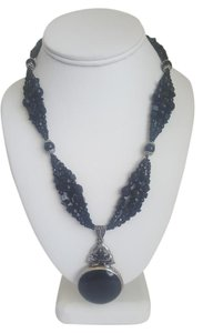 Other Black and Silver Stone and Pendant Necklace