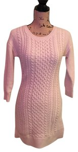 Pink Rose short dress Eggshell Sweater Cableknit on Tradesy