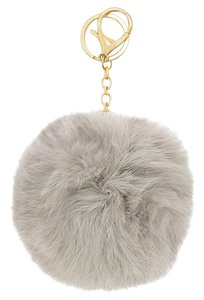 Other Gray Pom Pom Rabbit Fur Bag/Purse Charm Key Chain