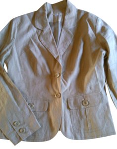 Merona Merona 100% Linen Tan Lined Suit Jacket M