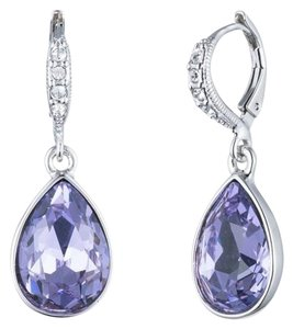Givenchy Givenchy Silvertone Violet Drop Earrings