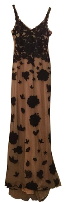Item - Black and Nude Occasion Long Formal Dress Size 0 (XS)