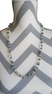 Other Black and White Stone Necklace