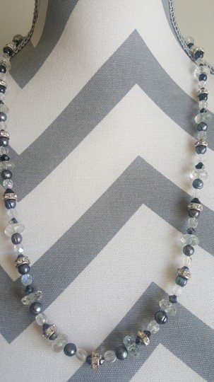 Other Black and White Stone Necklace Image 2
