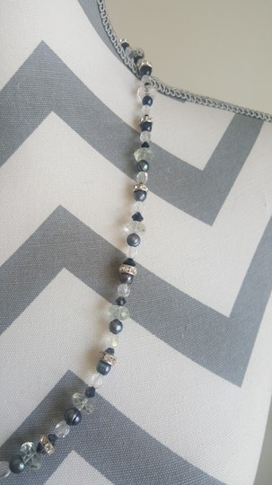 Other Black and White Stone Necklace Image 5