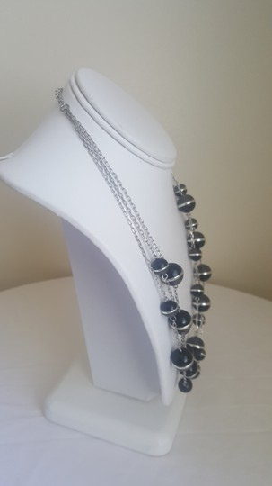 Coldwater Creek Black and Silver Sphere Multi-Strand Necklace Image 2
