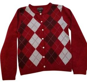 Abercrombie & Fitch Argyle Cardigan Wool Classic Sweater