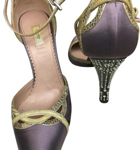 Prada Evening Satin Swarovski Art Deco Lavender Formal