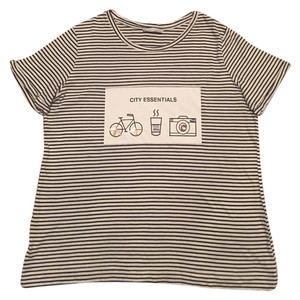 Zara T Shirt Black/white