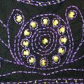 Free People Beaded Embroidered Strappy Boho Print Top Purple Image 1