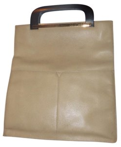Gucci Restored Lining Front Pockets Lacquered Handles Xl Or Satchel Mint Condition Tote in stone colored leather