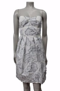 Cynthia Steffe White Silver Dress