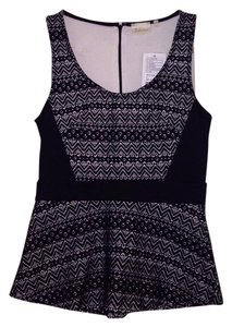 Anthropologie Top Black/White