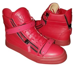 Giuseppe Zanotti Sneakers Buckles Straps Red Athletic