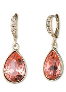 Givenchy Givenchy Goldtone Rose Peach Drop Earrings