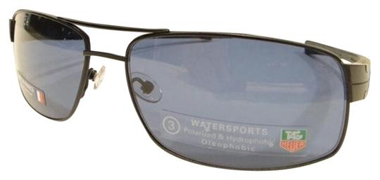 TAG Heuer Tag Heuer 0255 Sunglasses TH0255 LRS 404 Matt Black Blue WaterSports Authentic Image 0