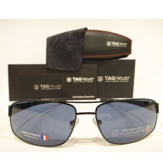 TAG Heuer Tag Heuer 0255 Sunglasses TH0255 LRS 404 Matt Black Blue WaterSports Authentic Image 1