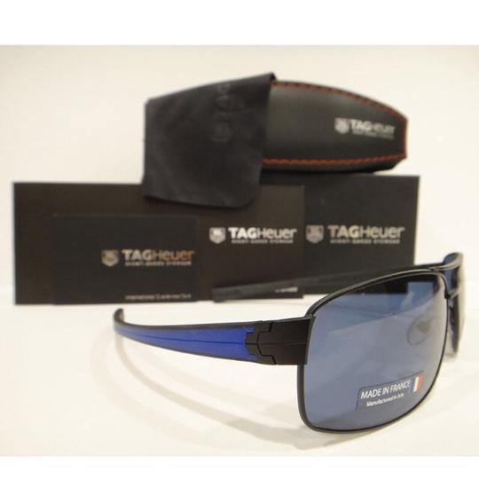 TAG Heuer Tag Heuer 0255 Sunglasses TH0255 LRS 404 Matt Black Blue WaterSports Authentic Image 2