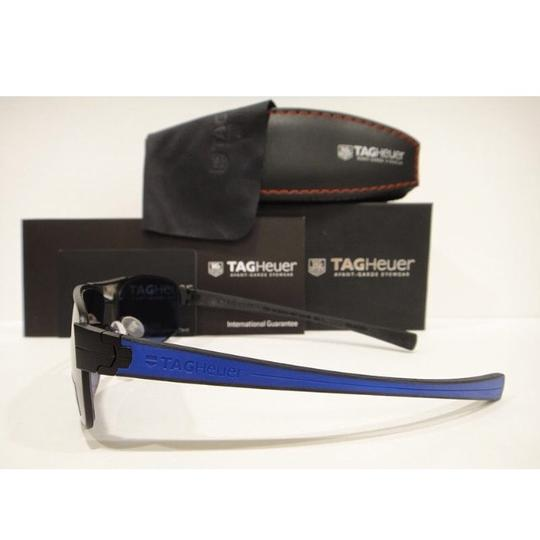 TAG Heuer Tag Heuer 0255 Sunglasses TH0255 LRS 404 Matt Black Blue WaterSports Authentic Image 3