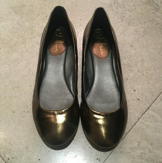 Cole Haan Muted Gold Flats Image 1