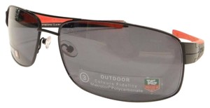 TAG Heuer Tag Heuer 0255 Sunglasses TH0255 LRS 110 Matt Black Red Authentic New