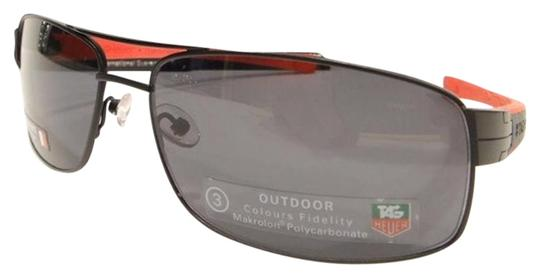 TAG Heuer Tag Heuer 0255 Sunglasses TH0255 LRS 110 Matt Black Red Authentic New Image 0