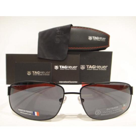 TAG Heuer Tag Heuer 0255 Sunglasses TH0255 LRS 110 Matt Black Red Authentic New Image 1