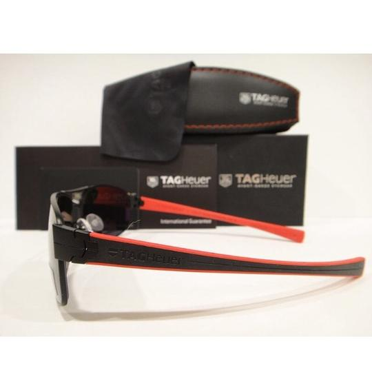 TAG Heuer Tag Heuer 0255 Sunglasses TH0255 LRS 110 Matt Black Red Authentic New Image 3