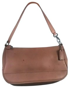 Coach Hamptons Leather Leather Baguette Satchel in Tan