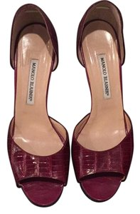 Manolo Blahnik Burgundy Formal