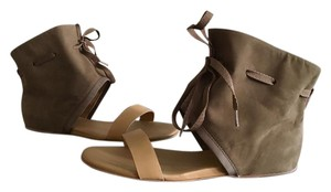 See by Chloé Flat Sandal Designer Suede khaki, army green Sandals