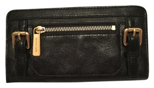 Michael Kors Michael Kors Black Leather McGraw Continental Wallet