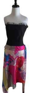 Christian Lacroix short dress Multicolor Hi Lo Black Bazar Silk on Tradesy