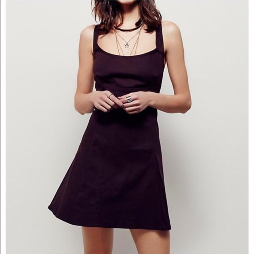 Free People Chocolate Brown. Above Knee Cocktail Dress Size 2 (XS ...