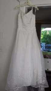 White With Emboidery Wedding Dress