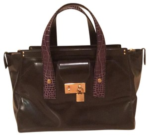 Marc Jacobs Satchel in Glossy Chocolate Brown