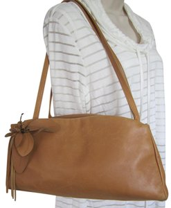 Paolo Masi Italian Leather Flower Accent Shoulder Bag