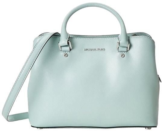 Preload https://img-static.tradesy.com/item/18902122/michael-michael-kors-savannah-medium-celadon-saffiano-leather-satchel-0-1-540-540.jpg