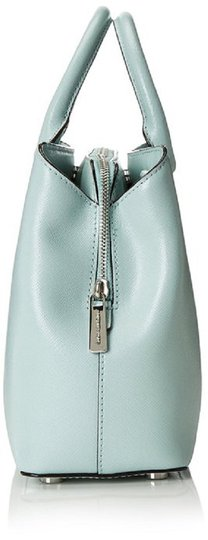 MICHAEL Michael Kors Savannah Medium Met Saffiano Leather Satchel in Celadon Image 2