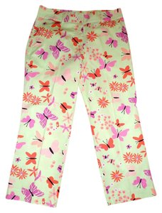 Lilly Pulitzer Capri/Cropped Pants Multi-Color Floral