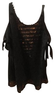 Free People short dress Black Cover Up on Tradesy