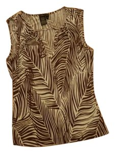 BCBGMAXAZRIA Top brown and ivory pattern