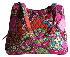 Vera Bradley Cotton Triplecompartment Floral Printed Shoulder Bag